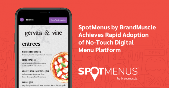 SpotMenus Achieves Rapid Adoption of No-touch QR Code Menu Platform