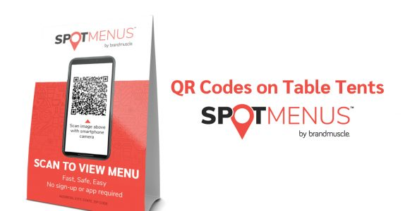 QR code on table tent