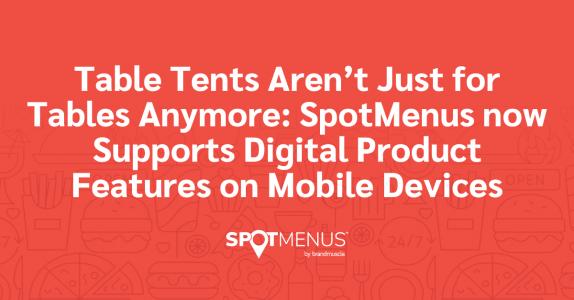 digital table tents
